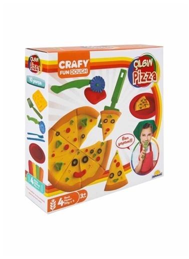 Sunman Sunman 10 ParÇa 4 Renkli Crafy Çılgın Pizza Oyun Hamuru Seti 200 gr Renkli